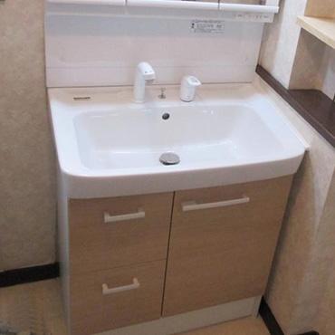 洗面化粧台リフォーム実例の紹介2